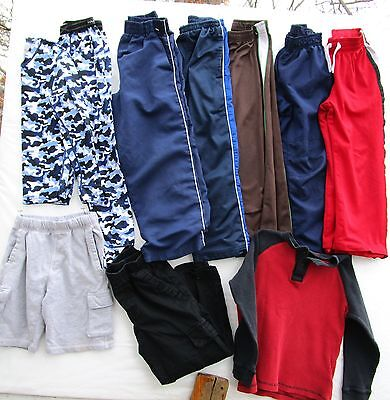Boys 9 Piece Lot Size 6/7/8 Pants Shorts Shirts Jumping Beans, Starter + More