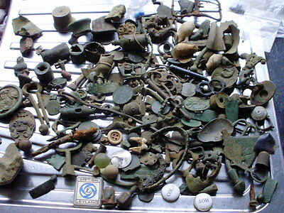 a mountain of detecting finds