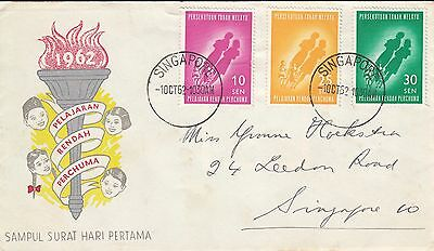 K 717 Singapore cancelled Malaya October 1962 First Day Cover