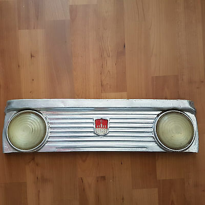 RUSSIAN PEDAL CAR ORIGINAL PARTS front sheet metal with headlamps MOSKVITCH
