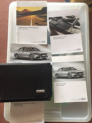 2012 Audi A6 Owners Manual Set With Navigation Manual