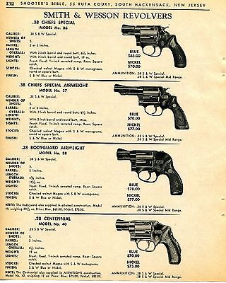 1965 Print Ad Smith Wesson S&W Model 36 37 Chiefs Special 38 Bodyguard Revolver