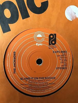 "THE JACKSONS - BLAME IT ON THE BOOGIE  b/w  DO WHAT YOU WANNA  (1978)  7"" vinyl"