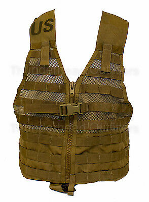 USMC MOLLE FLC Fighting Load Carrier Vest COYOTE Military Tactical LBV EXC