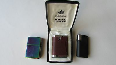 Job lot of collectable Vintage lighters - Zippo, Ronson, Colibri