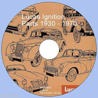 Lucas Ignition Parts Information DVD Rom  1930 - 1970