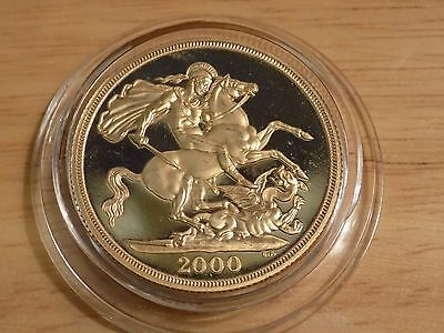 2000 Gold Proof Two Pound Coin Double Sovereign 16g