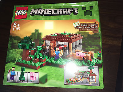 New Sealed Boxed LEGO Minecraft The First Night (21115) - Retired Set