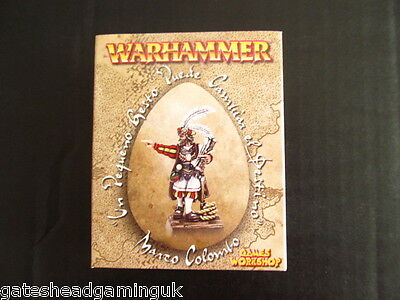 Marco Colombo Metal Ltd Ed NEW Boxed Dogs of War Warhammer Fantasy Mordheim Hero