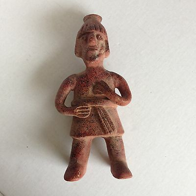 Pre Columbian? Pottery Standing Figure Sculpture Clay Earthenware South American
