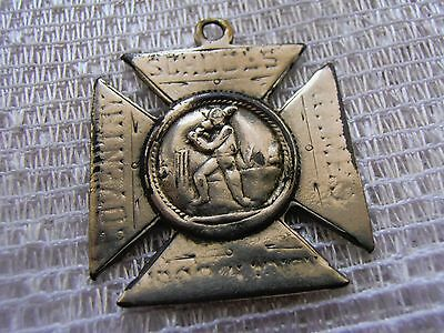 1895 Cricket Sports Coventry Schools Games Medal 'All Saints ?' - very worn