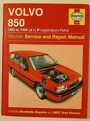 Haynes Manual For Volvo 850. 1992 To 1996. J To P Registration.