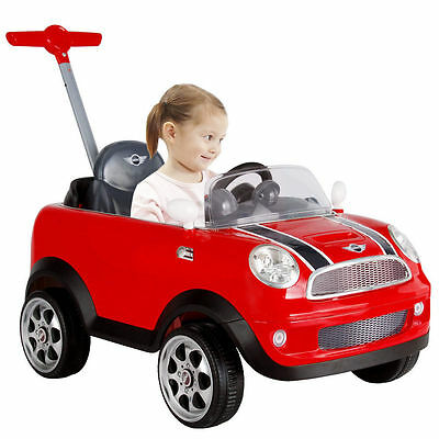 Mini Cooper Push Buggy Car – Red - Ride On / Parent Push Along Brand New Boxed