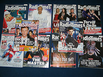 BUNDLE x10 DOCTOR WHO RADIO TIMES FEATURES + 4 x DR WHO CD 2006-07 JOB LOT