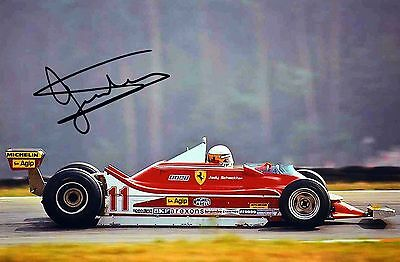 Jody Scheckter F1 signed autographed 6x9 picture