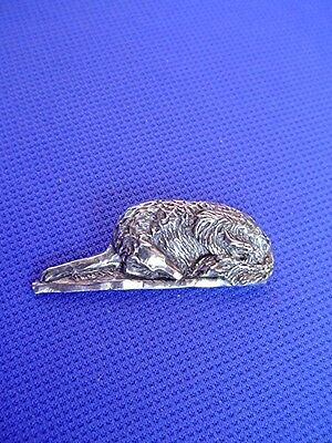 Borzoi Russian Wolfhound Pin SLEEPING #17P Pewter Dog Jewelry by Cindy A. Conter