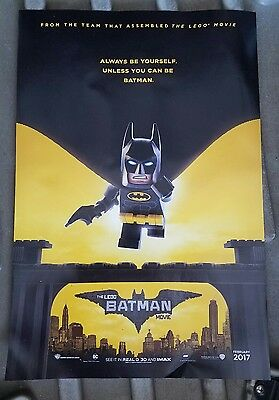 The Lego Batman Movie 27X40 ORIG 2017 D/S MOVIE POSTER