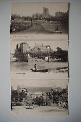 **3 Vintage Postcards**maidstone Kent**old Palace**old Church**old College**