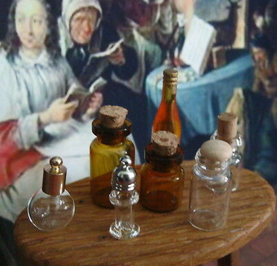 JARS POTS BOTTLES set for POTIONS REMEDIES MEDICINES apothecary witch miniatures