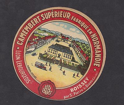 Ancienne  étiquette Fromage  France  BN12368 Camembert Normandie Camion