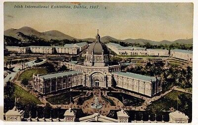 Vintage Postcard, Irish International Exhibition in Dublin- Lawrence, 1907