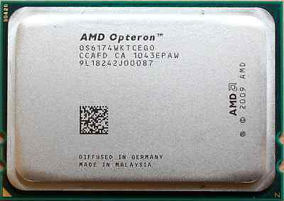 AMD Opteron 6174 Magny Cours 2.2GHz Twelve (12) Core CPU 12MB Cache Socket G34