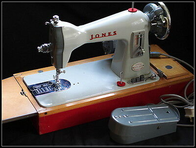 Jones CBD Sewing Machine. Heavy Duty. Vintage Cased.
