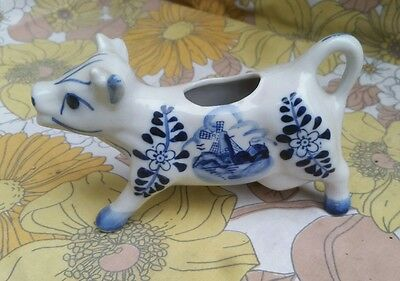 Collectable Handpainted Cow Shaped Milk Jug. Please See Description For Details