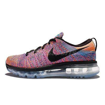 Wmns Nike Flyknit Max Black Multi-Color Womens Running Trainers Shoes 620659-404