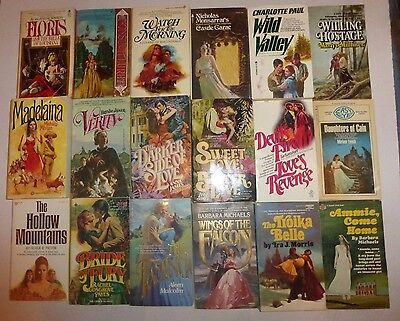 Vintage Lot of 18 Historical Gothic Romance Large Novels in Paperback