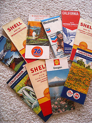 1947-1970's Shell, Union, Chevron Gas Stations U.S. 66 Hwy Tour Guide,Maps LOOK