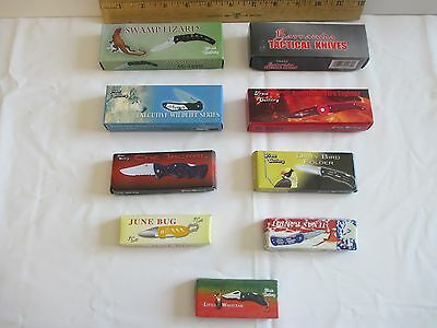 Lot of 9 Collectible Knives New in the Box