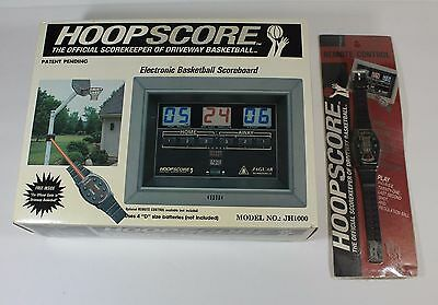 Hoopscore Electronic Basketball Scoreboard Model JH1000 - With Remote