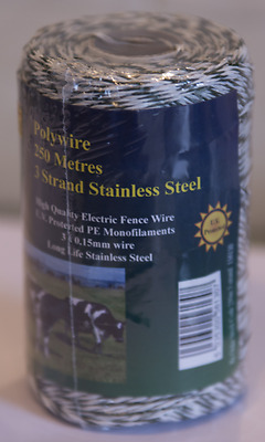 Fenceman Polywire Electric Fence Wire 3 Strand 250m