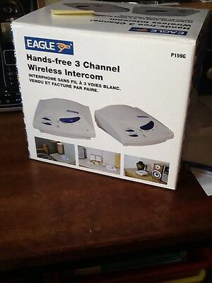 Brand new Eagle 3 Channel Hands-Free Wireless Intercom - White p159g