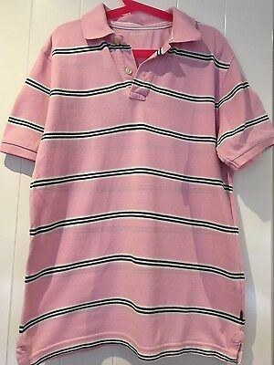 GAP Boys Pink Striped Polo T- Shirt - Age 12-13 Years