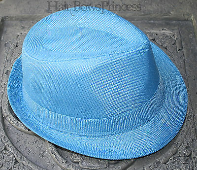 Fedora Hat For Kids Child boys girls infant toddler 2T 3T 4T 5T blue aqua