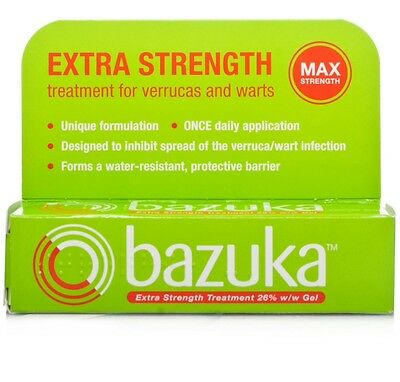 X1 Bazuka Extra Strength Gel Treatment For Veruccas And Warts - 6g