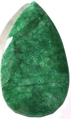 HUGE NATURAL GENUINE BRAZILIAN MINED/EARTH GREEN FACETED EMERALD GEMSTONE,161cts
