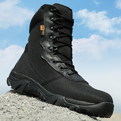 Mens Military Tactical Boots Combat Army Hiking Hunting Walking Mountaineering