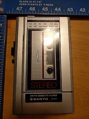 Vintage Sanyo M-G31 Portable AM/FM Stereo Cassette Player WORKS