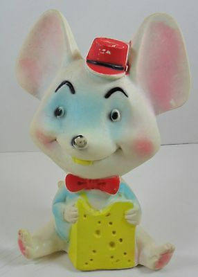 """Vintage Alan Jay Clarolyte Squeak Mouse 7"""" USA Squeaker Toy Rubber"""