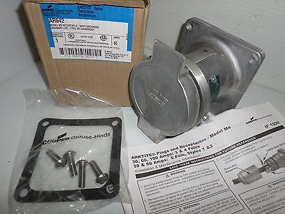 NEW CROUSE HINDS AR642 60-Amp PIN&SLEEVE RECEPTACLE 60A 600V 3W 4P  NEW IN BOX