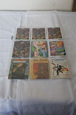 Mars Attacks Occupation Promo Card Set (9) w/ GPK Card in MINT CONDITION