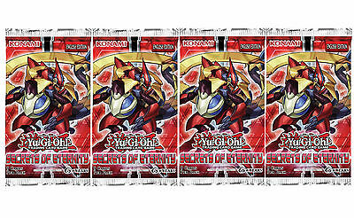 YU-GI-OH: SECRETS OF ETERNITY - 4 SEALED BOOSTER PACKS (9 cards per pack)