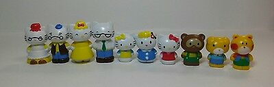 Hello Kitty and Friends Lot of (10) Mini figurine set