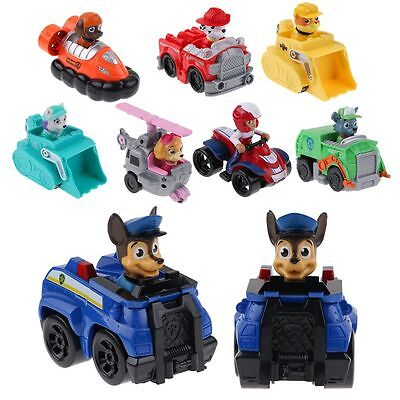 Hot Paw Patrol Pup Dog Racer Character Figure Kids Children's Toy Gift Set & box