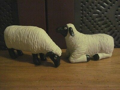 Blossom Bucket Farmhouse Set of 2 Sheep Resin Figures