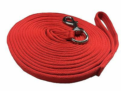 Nylon Lunging Reins Horse Training Aid Lung Line Lunging Rope 8 & 4 Meter Red