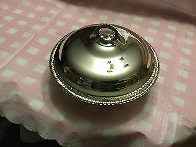 WM Rogers Silverplate Casserole Serving Dish with Lid and Pyrex Insert
